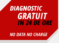 Diagnostic gratuit in 24 ore - no data, no charge